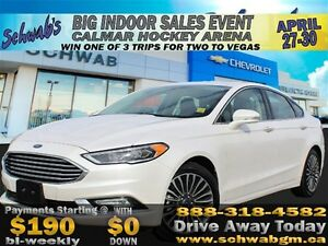 2017 Ford Fusion Titanium, EcoBoost, Touch Screen, Backup Camera