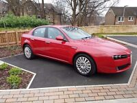 Alfa Romeo 159 1.9 JTDM Lusso 2009 09 reg with FSH in RED with BLACK UNMARKED LEATHER