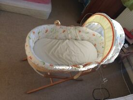 Mothercare Lullaby Moses Basket For Newborns - Top Price!!!
