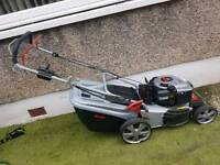 Alko key start self proppeled petrol lawnmower with grass box