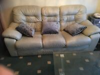 100%genuine leather sofas.3seater.two 2seaters.1seater.very good condition.soft luxury leather