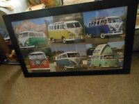VW PICHERS OF THE CAMPER VAN AND THE BEETLES