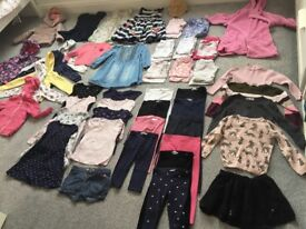 Large bundle of girls clothes for all seasons, aged 3-4 years