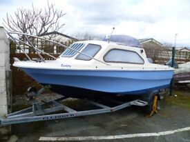 Shetland 17' Fishing Day Boat with Yamaha F50 Outboard.