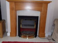 Electric fire &fire surround
