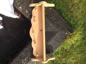 Handmade wooden shelf. Could be chalk painted/ up cycled