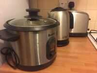 Rice cooker, kettle and toaster