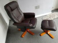 Bond leather reclincer swivel chair