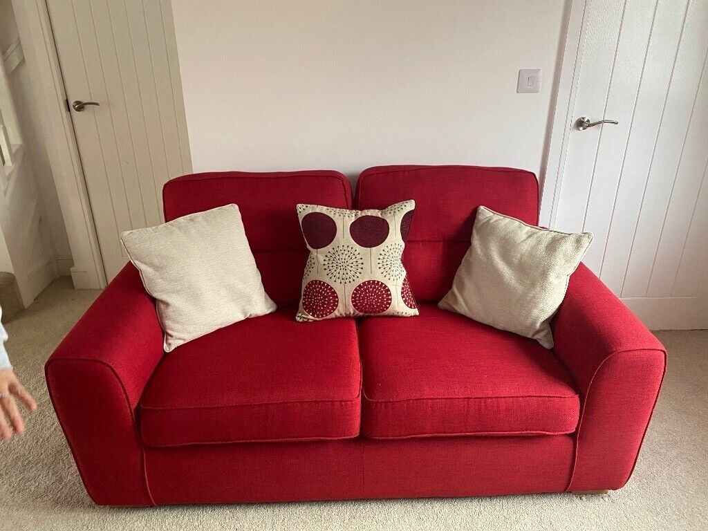 2 Red Dfs Sofas Quick Sale Needed Collection Only In Newport Gumtree