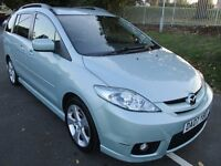 2007 07 MAZDA 5 2.0 FURANO11 7 SEATER LOW 92K LONG MOT 8/17 ROOF BARS ALLOYS LOVELY DRIVE PX SWAPS