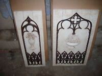 NEW STONE EFFECT/MOULDED WALL PLAQUES X 2