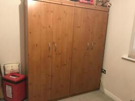 2 wardrobes for sale £65.00 ono