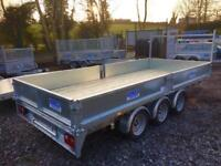 Tri axle trailer 14x6,6 Dale kane with drop sides
