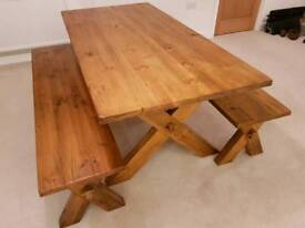 1800mm x 900mm Dining Table with 2 x Benches