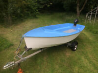 Fully refurbished Dinghy / Trailer & Outboard Ready to use Fishing boat