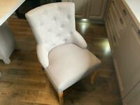 6 practically new Grey Dining room chairs plus sheesham table