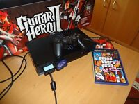 Sony Playstation 2 with Guitar Hero 2