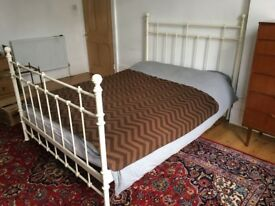 Ikea Edwardian style Glossy Ivory colour Metal Bed Frame