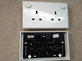 Socket Adapters Make Single to Twin Gang Mains