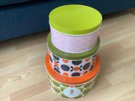 Orla Kiely Set of 3 Nesting Cake Tins - Brand New in Box - Orla Kiely