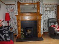 Celtic pine fireplace