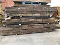 🐛 WOODEN/ TIMBER RAILWAY SLEEPERS ~ USED ~ VARIOUS SIZES