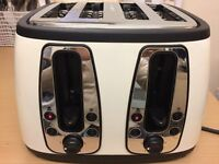 RUSSELL HOBBS 4 SLICE TOASTER, EXCELLENT WORKING CONDITION, HARDLY USED, FROM VEGETARIAN FAMILY.