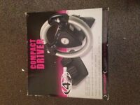 COMPACT DRIVER 4 GAMERS Sony Play Station & PSone SPCO22P Steering Wheel Pedals