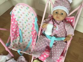 ELC doll and accessories