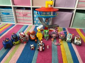 Paw Patrol tower & ALL vehicles & characters