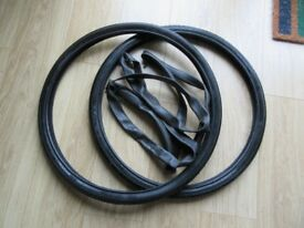 "2 x Bicycle Tyres 26"" x 1.5"" incl. Inner tubes"