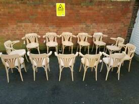 12x ton bent wood Chairs