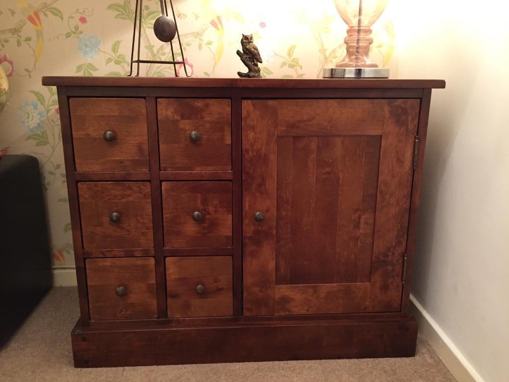 Laura Ashley Garrat Chestnut Small Storage Cabinet In