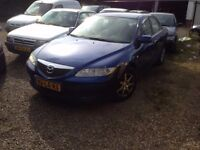 LEFT HAND DRIVE MAZDA 6 SALOON CAR, RUNS EXCELLENTLY,ENGINE & GENERAL MECHANICS IN GOOD FORM.CALL ME