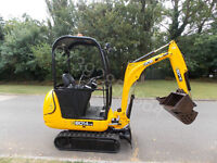 JCB 8014 CTS mini digger 1.5T 2012