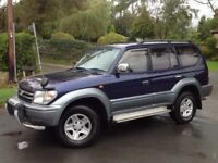 TOYOTA LAND CRUISER PRADO 3.0 TZ TD AUTO 4X4 BLUE ** LONG MOT!!! ++ LOW MILEAGE!!! **