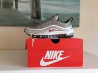 Nike Air Max 97 OG QS Silver Bullet Sneakers Reflective Trainers UK Size 7