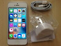 iPhone 5 - Unlocked - Any Network - 16GB - White/Silver - Fixed Price