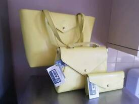 Paperthinks recycled leather bags and purse set