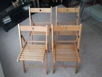 Wooden folding chairs-total 4 chairs-£25