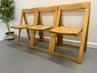 Retro Folding Aldo Jacober Chairs - Vintage Mid Century Style