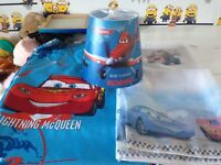Boys bedroom bundle lampshade curtains and voil curtain