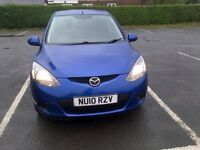 2010 Mazda 2 TS2 1.3 Petrol, Air Con, Electric windows/mirrors with power fold. 98k miles. One owner