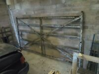 Antique wrought iron farm gate
