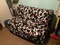 Sofa bed and organiser box