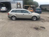 BREAKING 2002 AUDI A4 1.9 TDI FOR PARTS AWX ENGINE.