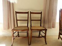 Two Regency style mahogany chairs