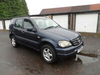 MERCEDES ML 270 CDI 4X4 Y REG 2001 MOT FEB 2018
