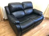 Anton Leather Reclining 2 Seater Sofa