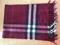 Burberry Cashmere Scarf (100% Authentic)